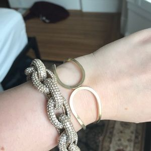 Jewelry - Set of two gold bracelets: JCrew and Vintage